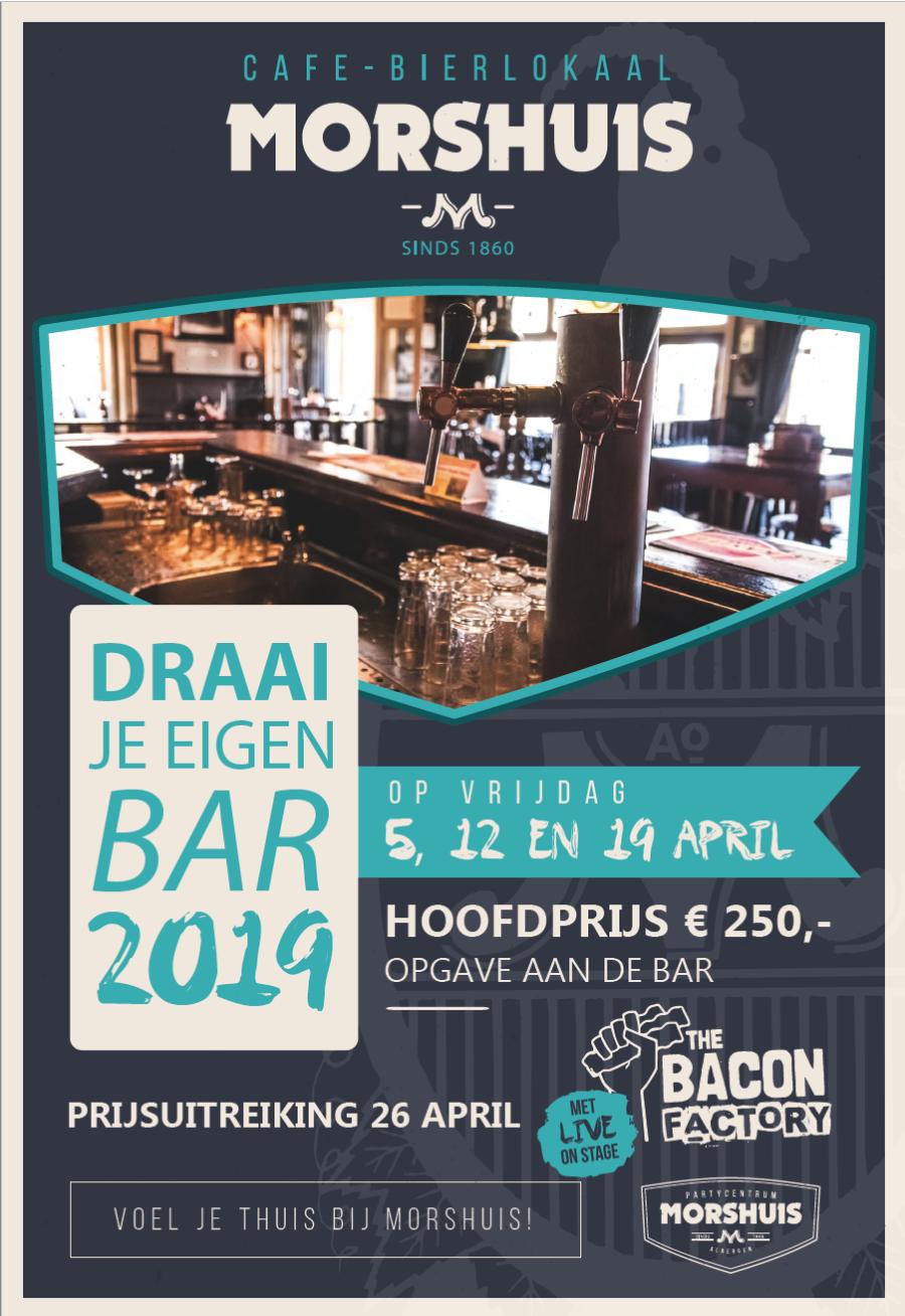 Draai je eigen bar – 2019